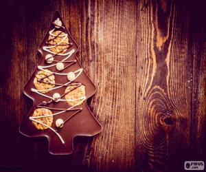 Puzle Árvore de chocolate, Natal
