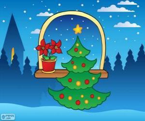 Puzle Árvore de Natal decorada