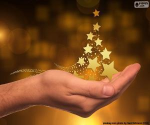 Puzle Árvore de Natal, estrelas