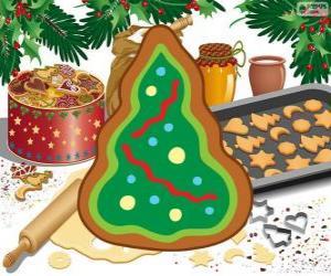 Puzle Árvore de Natal, um biscoito de Natal