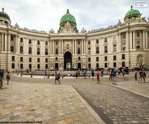 Puzle Áustria, o Palácio Imperial Hofburg