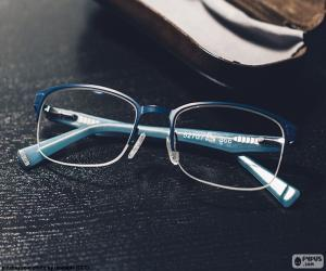 Puzle Óculos azuis