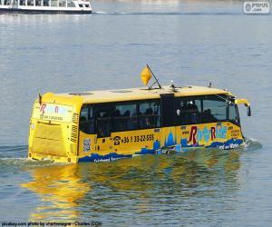Puzle Ônibus anfíbio