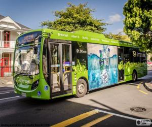 Puzle Ônibus de Auckland, Nova Zelândia
