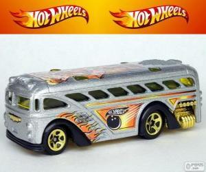 Puzle Ônibus de Hot Wheels