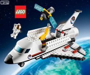 Puzle Ônibus espacial ou vaivém espacial de Lego City