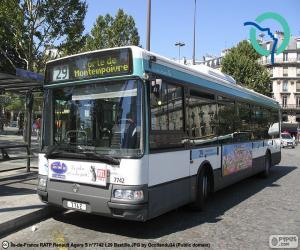 Puzle Ônibus urbano de Paris