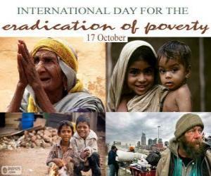 Puzle 17 de outubro, dia internacional para a erradicação da pobreza