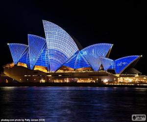 Puzle A Ópera de Sydney à noite