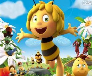 Puzle A abelha Maya e outros personagens