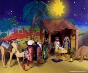 Puzle A Adoração dos Magos do Oriente ao Menino Jesus