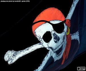 Puzle A bandeira de pirata