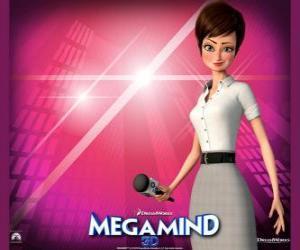 Puzle A bela repórter Rosane Rocha ou Roxanne Ritchie de quem está apaixonado Megamente ou Megamind