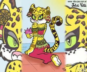 Puzle A bela tigresa. Desenho de Julieta Vitali