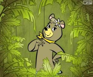 Puzle A bela ursa Cindy é a namorada de Zé Colméia