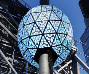 Puzle A bola do ano novo, Times Square, Manhattan, Nova Iorque