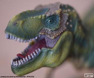 Puzle A cabeça de um dinossauro