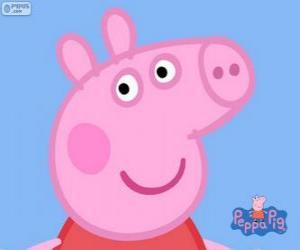 Puzle A cara do Peppa Pig