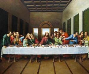 Puzle A Ceia do Senhor ou a Última Ceia - Jesus reuniu com seus apóstolos na noite de Quinta-Feira Santa