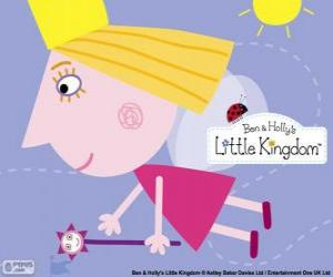 Puzle A fada princesa Holly com a varinha mágica