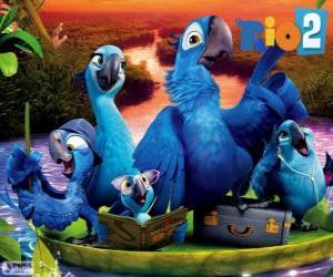 Puzle A família de Blu na Amazônia