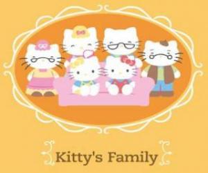 Puzle A família Hello Kitty