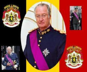 Puzle A Festa do Rei, uma cerimônia para homenagear o Rei da Bélgica, em 15 de novembro. Brasão de armas da Bélgica