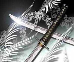 Puzle A katana é a arma mais famosa de ninja e samurai