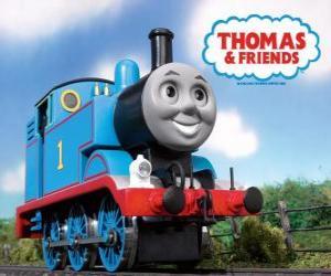 Puzle A locomotiva Thomas é uma locomotiva a vapor com o número 1. Thomas e Seus Amigos