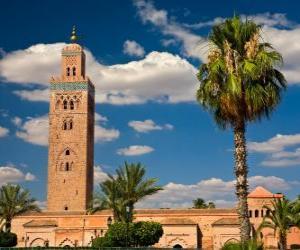 Puzle A Mesquita de Koutoubia, Marraquexe, Marrocos