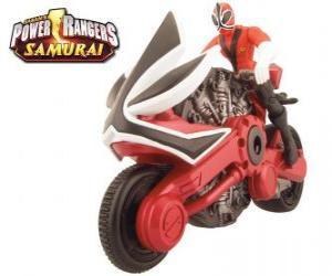 Puzle A moto vermelha, Power Ranger Samurai