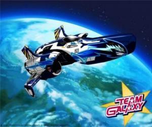 Puzle A nave espacial do Team Galaxy é o Hornet