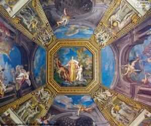 Puzle A pintura de uma cúpula do Vaticano