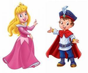 Puzle A princesa eo príncipe falando