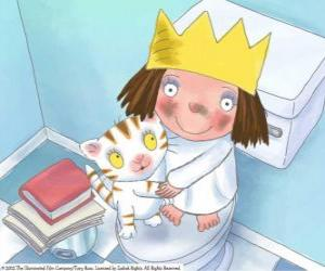 Puzle A Princesinha com seu gato Puss