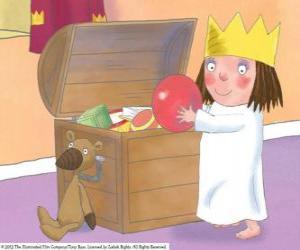 Puzle A Princesinha com seus brinquedos
