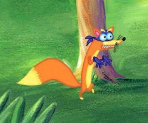 Puzle A raposa Swiper está sempre tentando roubar algo Dora