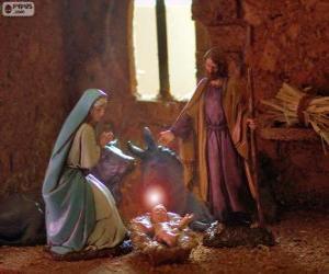 Puzle A Sagrada Família na noite de Natal