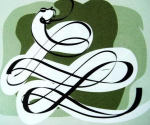 Puzle A serpente, o signo da Serpente, o Ano da Serpente. O sexto dos signos do horóscopo chinês