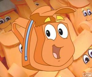 Puzle A simpática mochila mágica de Diego