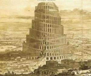 Puzle A Torre de Babel em que os homens pretendiam chegar ao céu