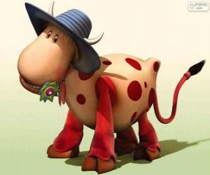 Puzle A vaca Ermintrude, um dos personagens de Carrossel Mágico