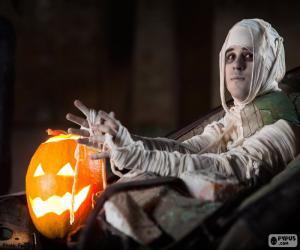 Puzle Abóbora e múmia, dia das bruxas
