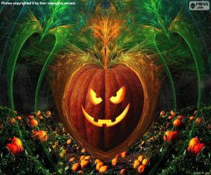 Puzle Abóbora típica da Halloween