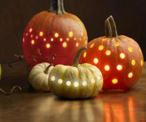 Puzle Abóboras de Halloween