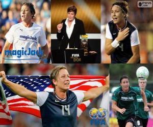 Puzle Abby Wambach jogador do mundo da Copa do Ano 2012