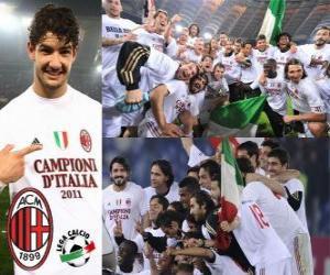 Puzle AC Milan, campeão da Liga Italiana de Futebol - Lega Calcio 2010-11