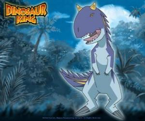 Puzle Ace, Esu. Dinossauro Carnotauro que é possuído por Rex equipo-D