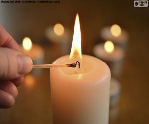 Puzle Acenda a vela