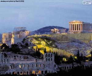Puzle Acrópole de Atenas, Grécia